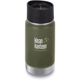 Klean Kanteen Wide Vacuum Insulated Drinkfles Café Cap 2.0 355ml groen